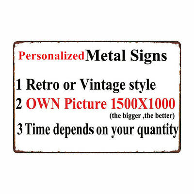 """Personalized Metal Sign 8"""" x 12"""" 20x30 cm Customize with Picture(vintage style)"""