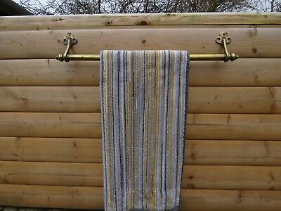 antique brass towel rail