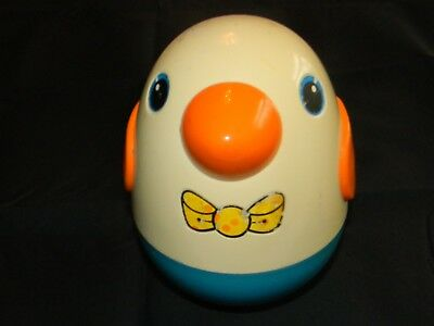 """Playschool Vintage roly poly toy bird baby penguin w/ internal bell 5 TALL"""""""