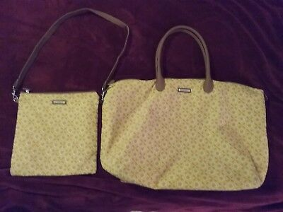 Longaberger, Purse, Tote Bag Set, Matching, golden fields, used, see pictures