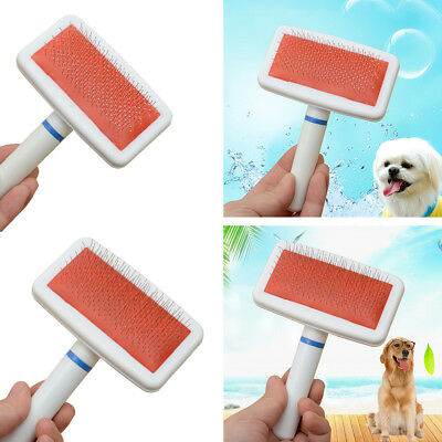 Pet Dog Hair Comb Cat Cleanning Shedding Grooming Trimmer Fur Brush Massage US