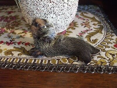 Vintage Seal Figure Made of Real Fur Toy Marine Mammal Applied Eyes Nose
