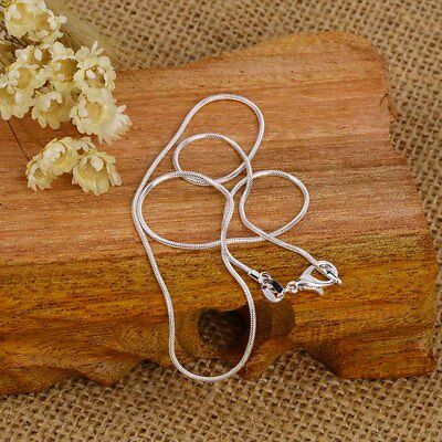 wholesale 925 sterling solid Silver lots 5pcs 1mm snake chain Necklace AX