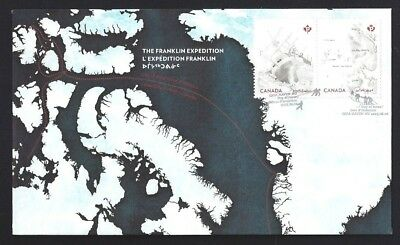 Canada  # 2854 - 2855   The  FRANKLIN EXPEDITION   New 2015 Unaddressed