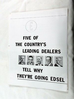 1957 Edsel 6 Page Promotional Flyer For Edsel Car Dealers