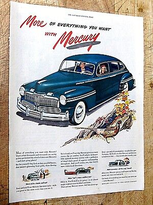 Vintage 1948 MERCURY More of everything you want Print Ad