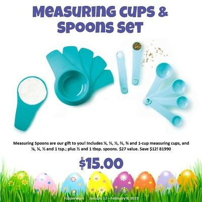 Tupperware Measuring Cups and Spoons Set - BPA FREE - NEW