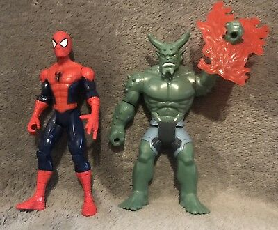 "Ultimate Spidermsn 6"" Action Figures Spiderman And  Green Goblin Lot"