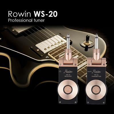 Rowin WS-20 2.4G Wireless Rechargeable Electric Guitar Transmitter+Receiver NEW