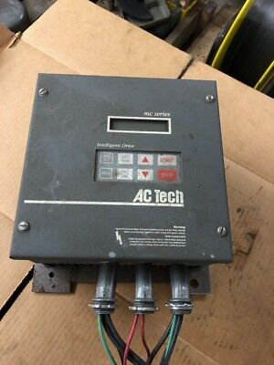 M//O AC TECH MC SERIES INTELLIGENT DRIVE M3430C 3HP 400//480V XLNT USED TAKEOUT !