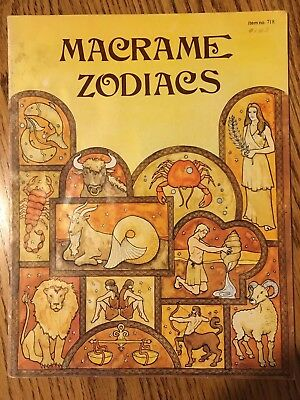 Vintage 1977 Macrame Zodiacs Pattern Booklet Handy Craft-Pak Astrological Signs