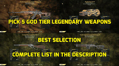 Fallout 76 PC WEAPONS BUNDLE, Two Shot Explosive Furious Melee 🌟 BEST SELECTION