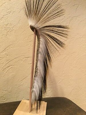 native american porcupine hair roach authentic with deer hair base