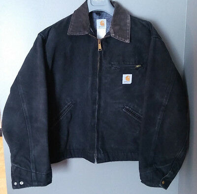 Carhartt Black Jacket Detroit Blanket Lining-Sz XL-Very Gently Worn