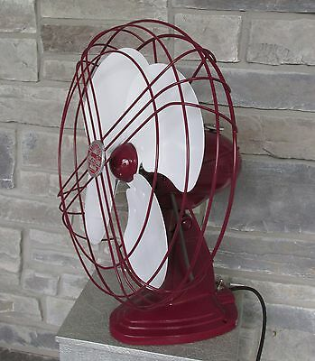 """Vintage Handsome Red Custom Paint  Arctic Aire Oscillating Fan 16"""""""