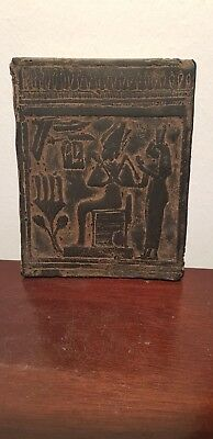 Rare Antique Ancient Egyptian Stela Gods Osiris & Horus & Isis 1478–1458 BC