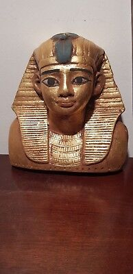 Rare Antique Ancient Egyptian Mask Pharaoh Tutankhamun water gold 1332–1323 BC