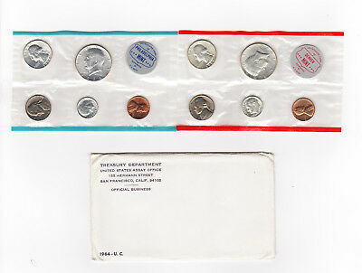1964 U.S. Mint Uncirculated Coins Sets Both P & D Mints 1st Kennedy 90% Silver 2