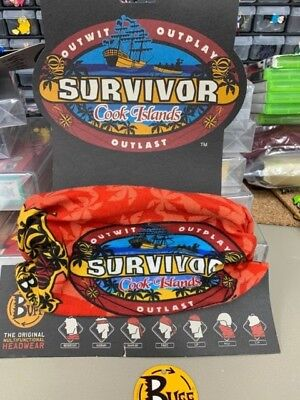 Survivor Cook Islands Red Buff Brand New Condition Extremely Rare!