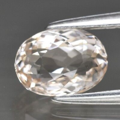 Top! VVS 1.02ct 7x5.2mm Oval Natural Unheated Light Peach Morganite