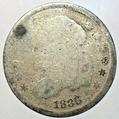 1836 Capped Bust Half Dime Silver Circulated Collectible Coin