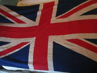 Large Vintage Union Jack Flag from VE Day 86 ins x 45 ins / 218 cm x 114 cm