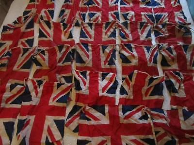 Vintage Union Jack Flag Bunting from VE Day 22 Flags @ 16ins x 10ins 39cm x 27cm