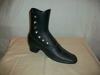 Old Black Cast Iron Victorian Style Boot