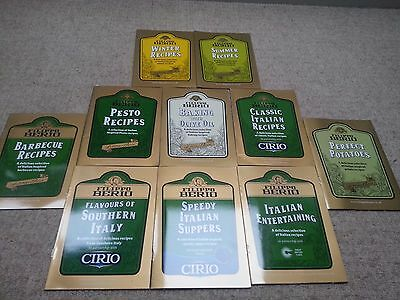10x   recipes booklets : cook Italian cuisine ALL NEW