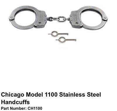 Chicago Model 1100 Stainless Steel Handcuffs