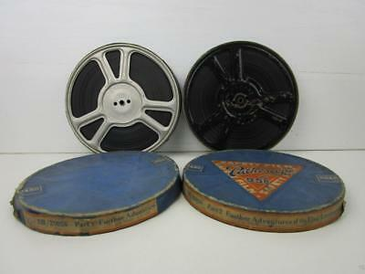 Vintage 9.5mm Film 2 Reels The Further Adventures Of The Flag Lieutenant b/w Sil
