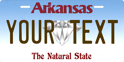 Arkansas State License Plate Personalized Custom Any Name Or Text