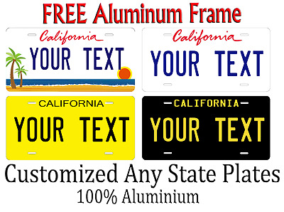 California State License Plate Personalized Custom Any Name Or Text