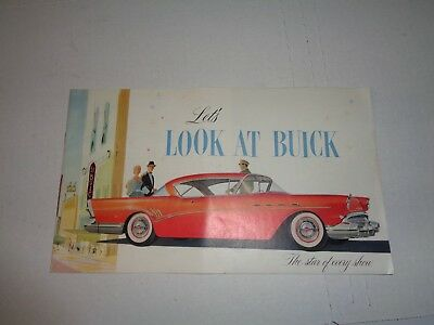 "Vintage 1957 BUICK 20 pg DEALER BROCHURE~""Let's Look at BUICK"" '57 Dealership AD"