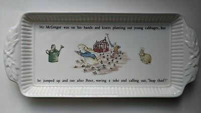 Wedgewood Beatrix Potter Peter Rabbit Sandwich Tray