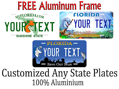 Florida State License Plate Personalized Custom Any Name Or Text
