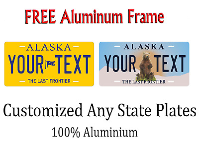 Alaska State License Plate Personalized Custom Any Name Or Text