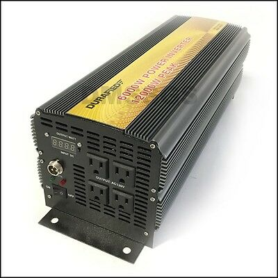 Brand New Durafied 6000/12000W 12V Dc To 120V Ac Power Inverter!!