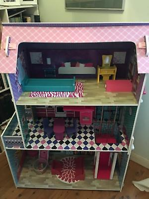 3 Story Barbie Doll House With Elevator
