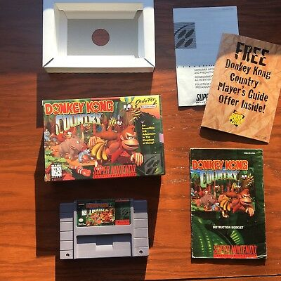 Donkey Kong Country (SNES, 1994) Complete in box CIB