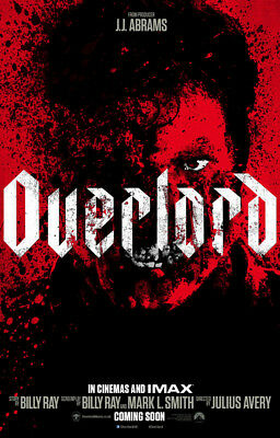 """overlord"" Brand New Dvd Factory Sealed Free Shipping Pre Sale 2/19"