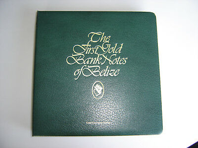 The First Gold Banknotes of Belize Complete Set of 36 Notes with COA