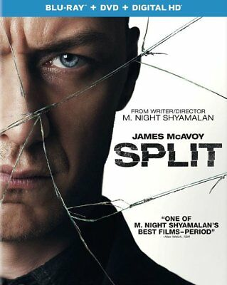 Split Blu-ray DVD, 2017, 2-Disc Set USED Watched Once Glass Unbreakable