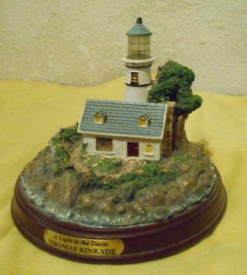 Thomas Kinkade Lighthouse - A Light in the Storm, Collectible Figurine, NIB