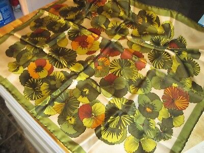 """Vtg 1960's-70s Pure Silk Scarf Made in Italy 25"""" Sq Tag Rikes Dept Store Dayton"""