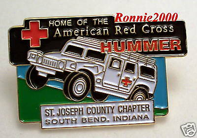 ST JOSEPH COUNTY  CHAPTER, SOUTH BEND IN, HUMMER   American Red Cross pin