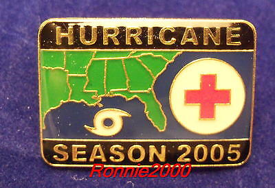 2005 HURRICANE SEASON American Red Cross pin HARD TO FIND VERSION REDUCED!!!