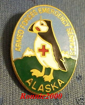 ALASKA PUFFIN AFES American Red Cross pin REDUCED!!