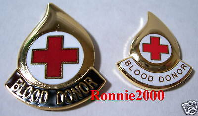 BLOOD DONOR DROP LARGE VERSION  American Red Cross pin