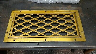 Vintage Ornate Antique VERY Heavy hinged solid Brass Vent Cover HVAC steam punk